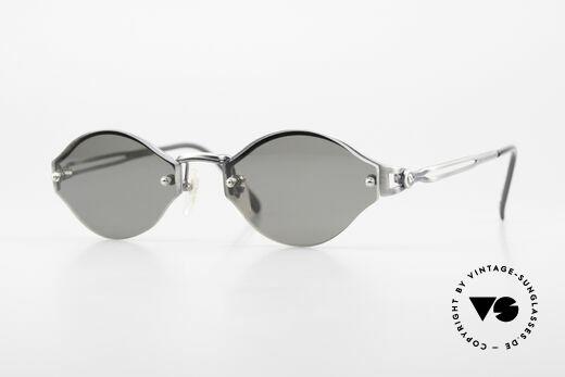 Jean Paul Gaultier 56-7111 Randlose JPG Sonnenbrille 90er Details