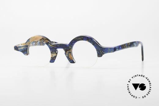 Proksch's A2 Runde 90er Brille Futuristisch Details