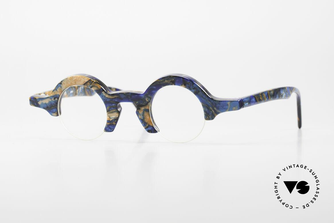 """Proksch's A2 Runde 90er Brille Futuristisch, """"crazy"""" vintage Brillengestell mit Halbrahmen, Passend für Herren und Damen"""