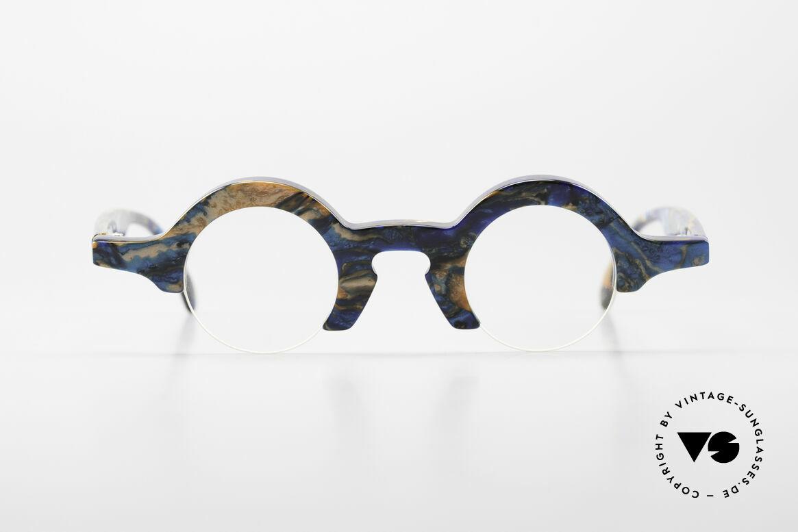 Proksch's A2 Runde 90er Brille Futuristisch, eine echte Proksch-Rarität für Charakterköpfe, Passend für Herren und Damen