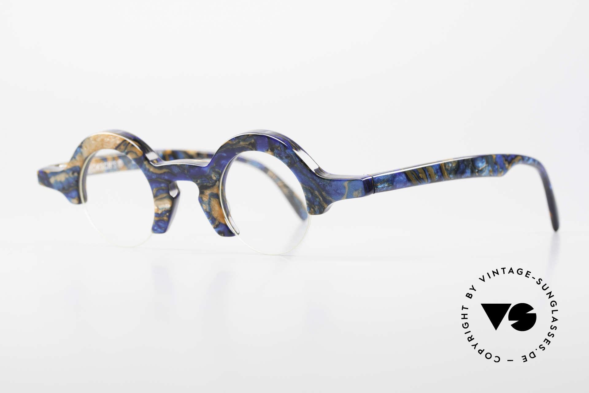 Proksch's A2 Runde 90er Brille Futuristisch, futuristisches Design vergangener Tage (90er), Passend für Herren und Damen