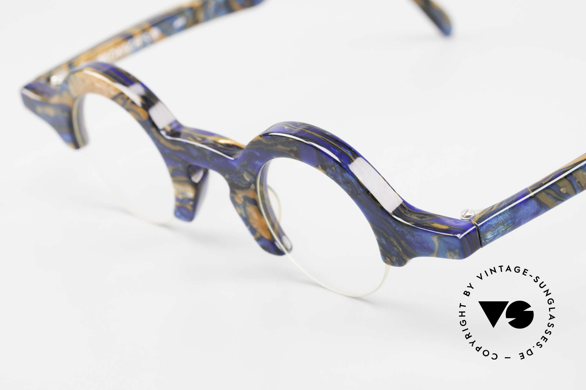Proksch's A2 Runde 90er Brille Futuristisch, ungetragen (wie alle unsere vintage Fassungen), Passend für Herren und Damen