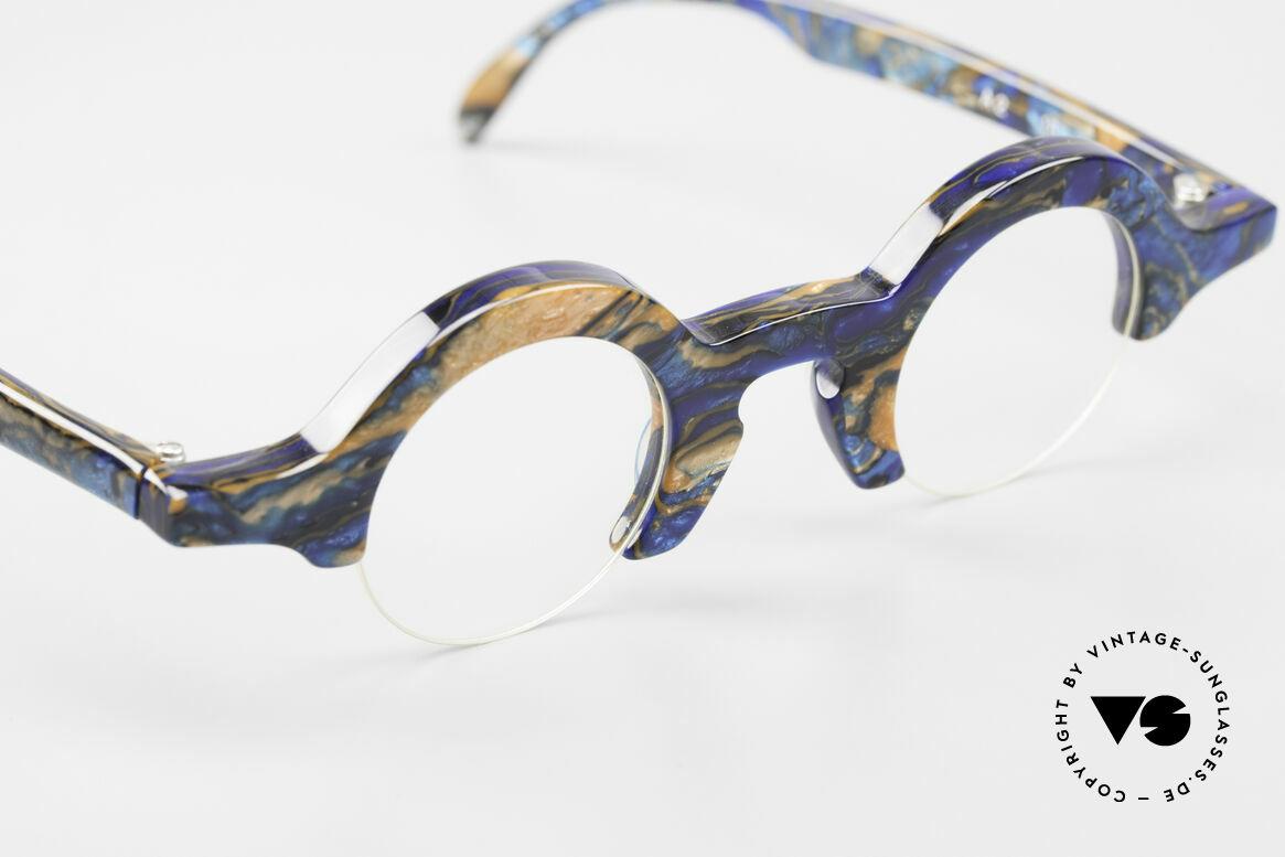 Proksch's A2 Runde 90er Brille Futuristisch, KEIN aktuelles Retro Design, sondern echt 90er, Passend für Herren und Damen