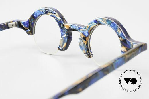 Proksch's A2 Runde 90er Brille Futuristisch, DEMOgläser sind beliebig optisch austauschbar, Passend für Herren und Damen