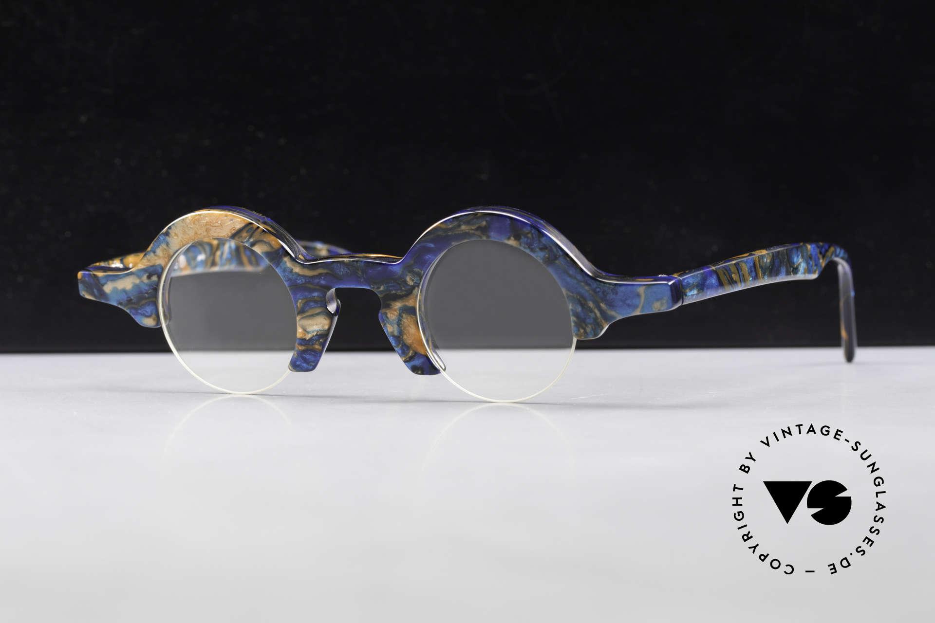 Proksch's A2 Runde 90er Brille Futuristisch, Größe: medium, Passend für Herren und Damen