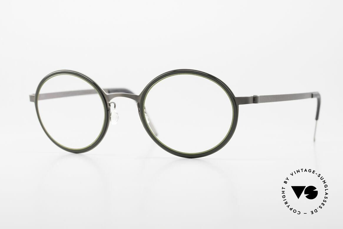 Lindberg 9707 Strip Titanium Runde Titanium Brille Unisex, runde Lindberg Strip Titanium Brillenfassung; unisex, Passend für Herren und Damen