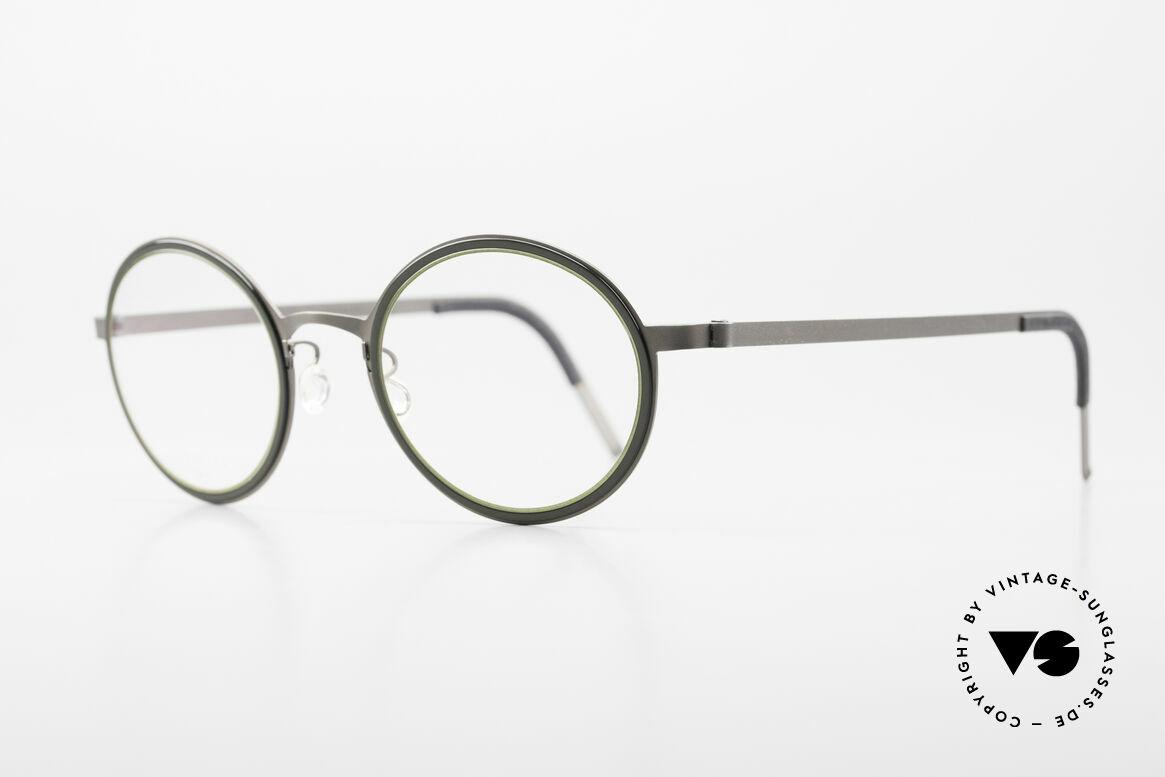 Lindberg 9707 Strip Titanium Runde Titanium Brille Unisex, federleicht und dennoch sehr stabil und sehr langlebig, Passend für Herren und Damen