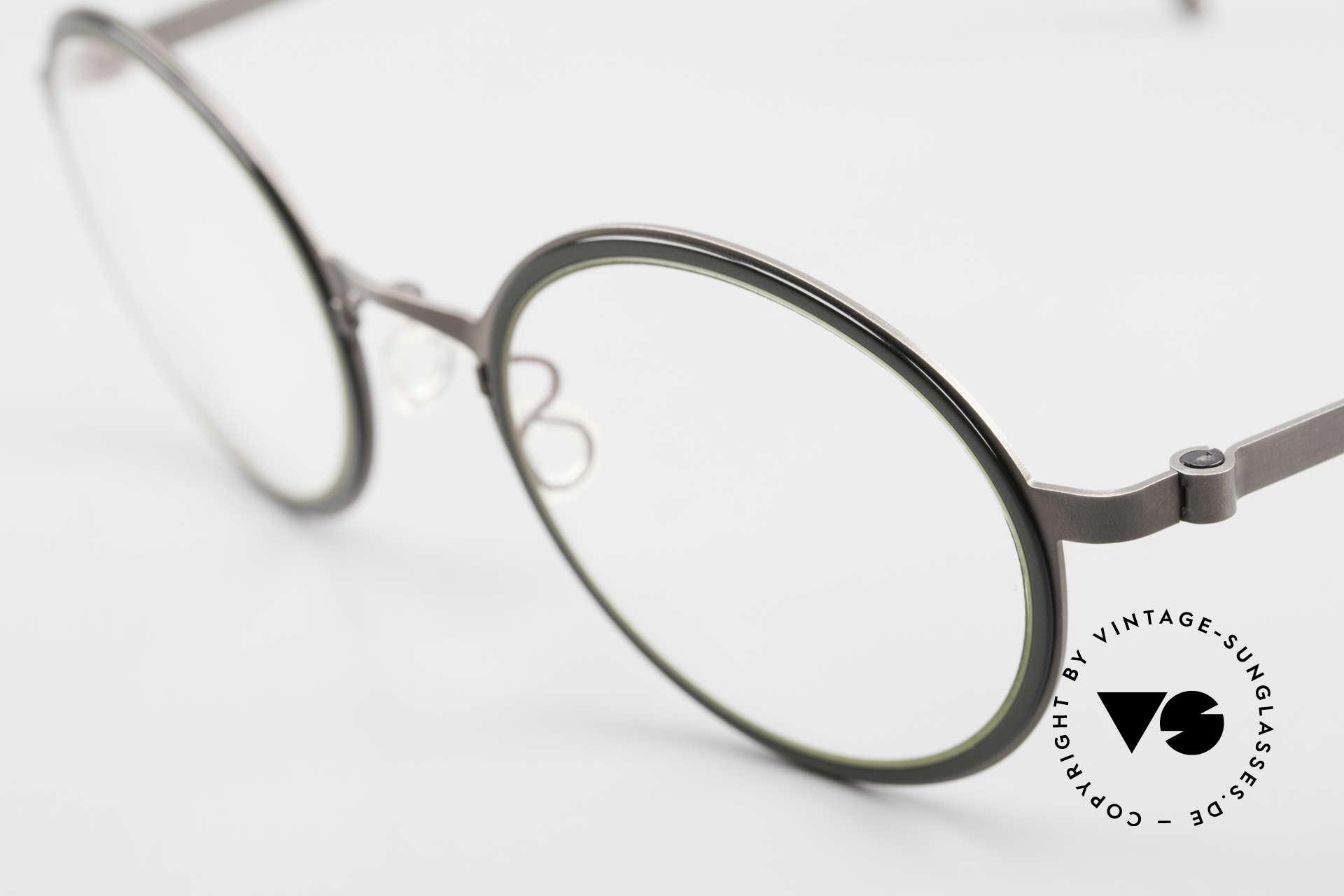 """Lindberg 9707 Strip Titanium Runde Titanium Brille Unisex, so zeitlos, stilvoll und innovativ = Prädikat """"VINTAGE"""", Passend für Herren und Damen"""