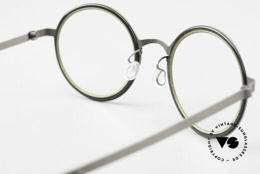 Lindberg 9707 Strip Titanium Runde Titanium Brille Unisex, die orig. DEMOgläser können beliebig getauscht werden, Passend für Herren und Damen