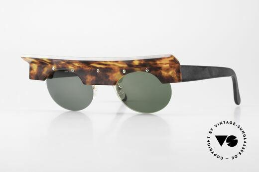 Design Maske Berlin Kappa Verrückte Vintage Sonnenbrille Details
