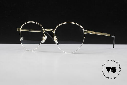 Cartier Core Range CT01080 Pantobrille Halb Randlos Unisex Details
