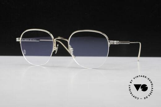 Cartier Titanium CT0164O Luxus Pantobrille Halb Randlos Details