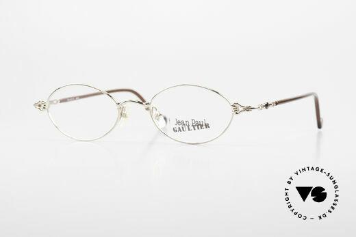 Jean Paul Gaultier 55-0013 Ovale Vintage Brille Vergoldet Details