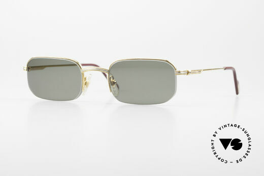Cartier Broadway Halb Randlose Sonnenbrille Details