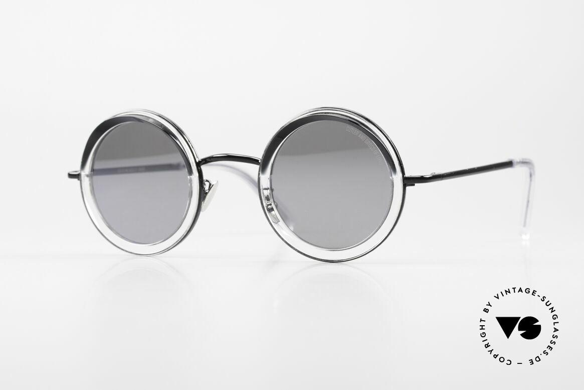 Cutler And Gross 1277 Runde Designer Sonnenbrille, Cutler and Gross Designer-Sonnenbrille; Modell 1277, Passend für Herren und Damen