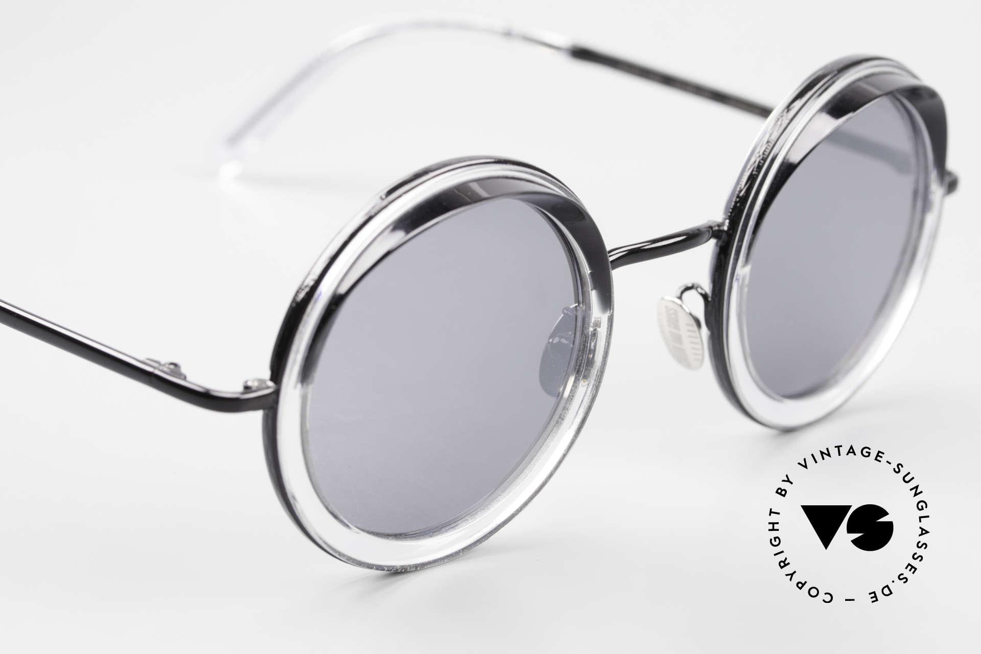 Cutler And Gross 1277 Runde Designer Sonnenbrille, ungetragen; Modell ist auch beliebig optisch verglasbar, Passend für Herren und Damen