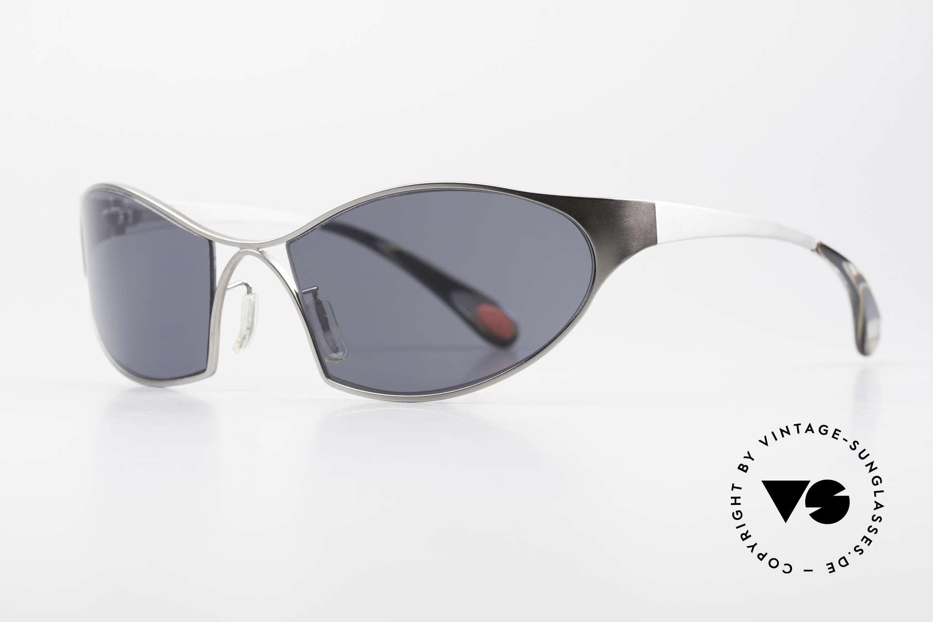 Bugatti 368 Odotype Sportliche Herren Sonnenbrille, ergonomischer Rahmen mit Federscharnieren, Passend für Herren