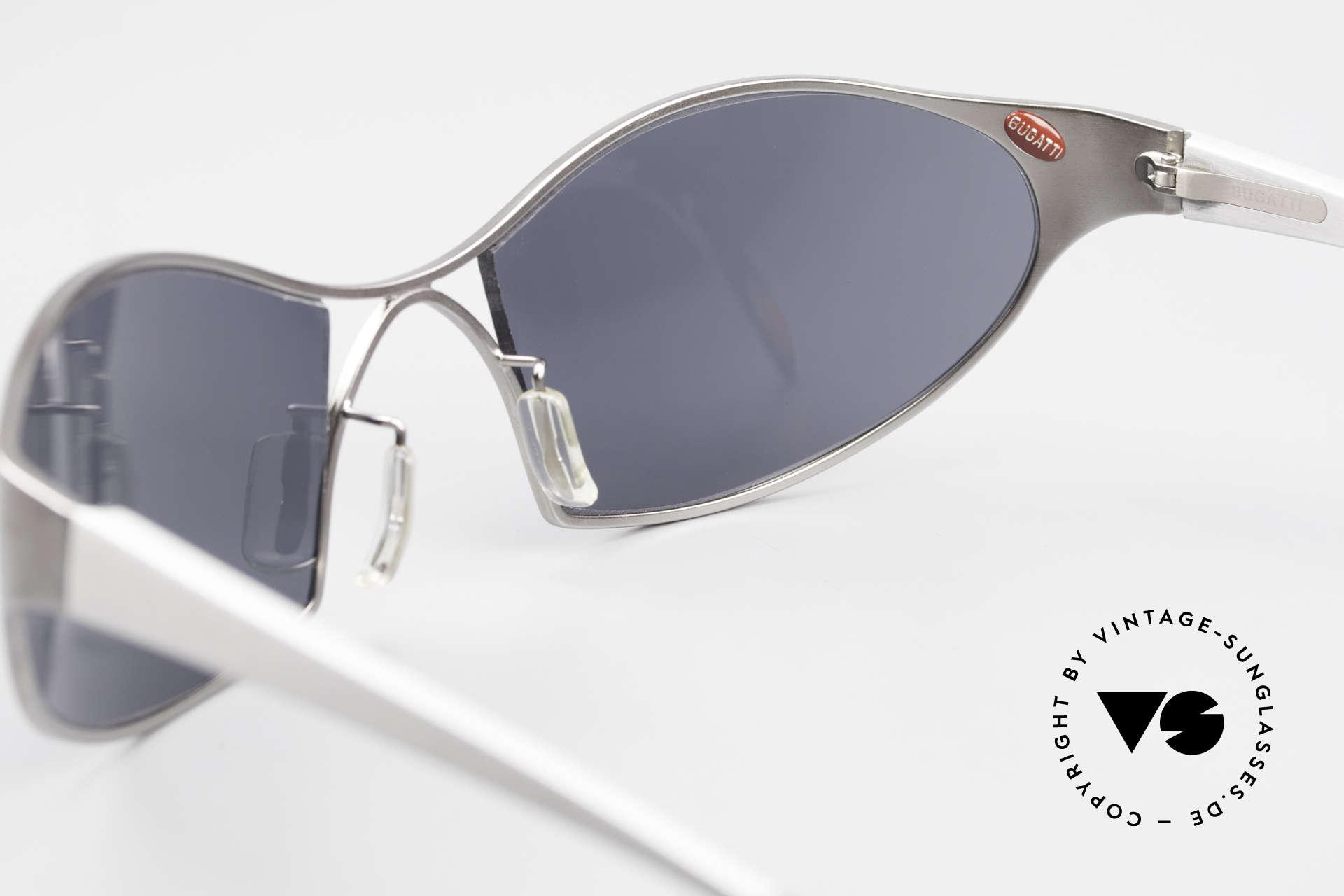 Bugatti 368 Odotype Sportliche Herren Sonnenbrille, eine seltene Bugatti Originalbrille mit Etui, Passend für Herren