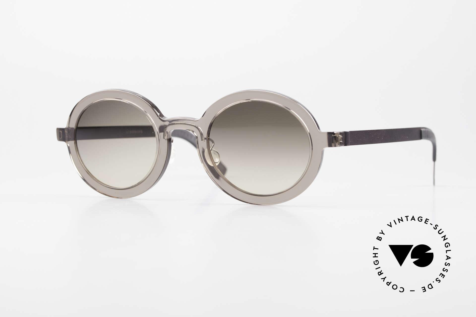 Lindberg 8570 Acetanium Oval Runde Sonnenbrille Unisex, LINDBERG Acetanium Sonnenbrille in Größe 46-23, 135, Passend für Herren und Damen