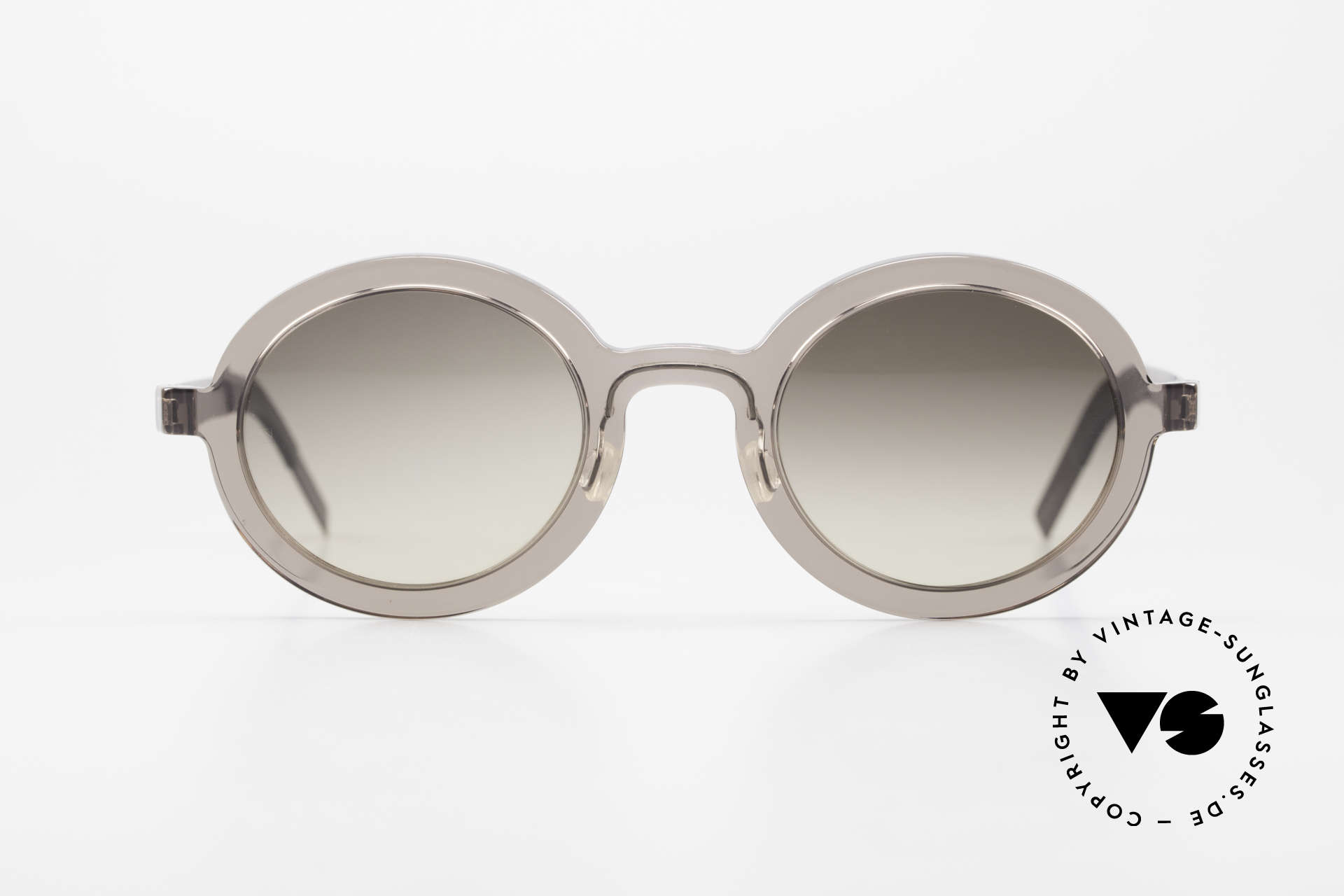 Lindberg 8570 Acetanium Oval Runde Sonnenbrille Unisex, Designer-Sonnenbrille; Acetat & Titanium Kombination, Passend für Herren und Damen