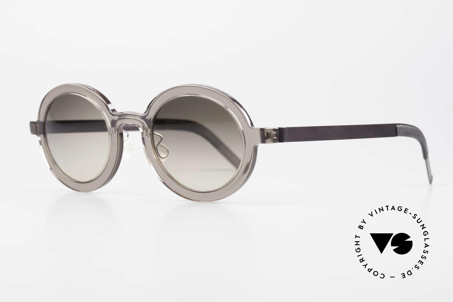 Lindberg 8570 Acetanium Oval Runde Sonnenbrille Unisex, vielfach ausgezeichnet hinsichtlich Qualität und Design, Passend für Herren und Damen