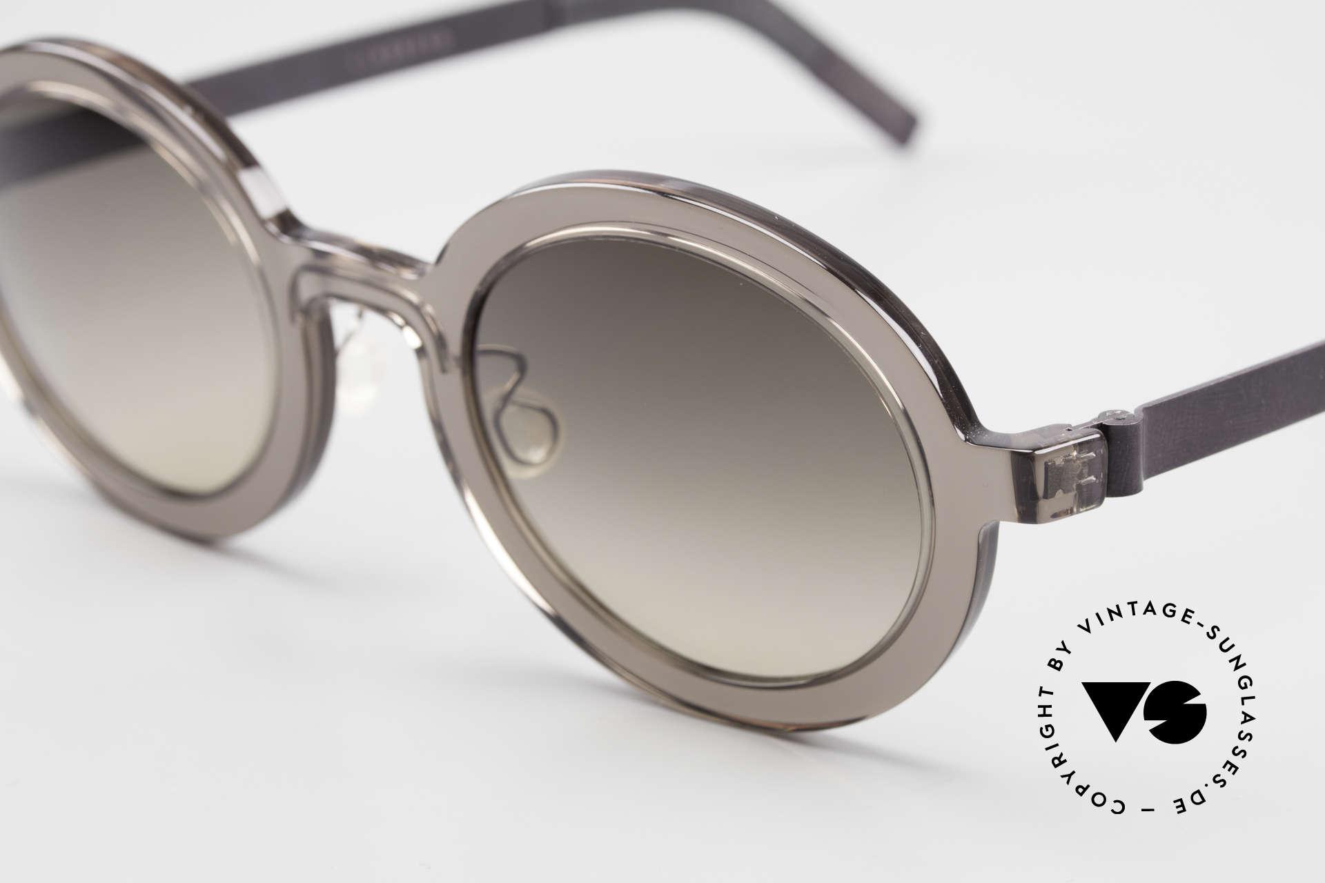 """Lindberg 8570 Acetanium Oval Runde Sonnenbrille Unisex, so zeitlos, stilvoll und innovativ = Prädikat """"VINTAGE"""", Passend für Herren und Damen"""