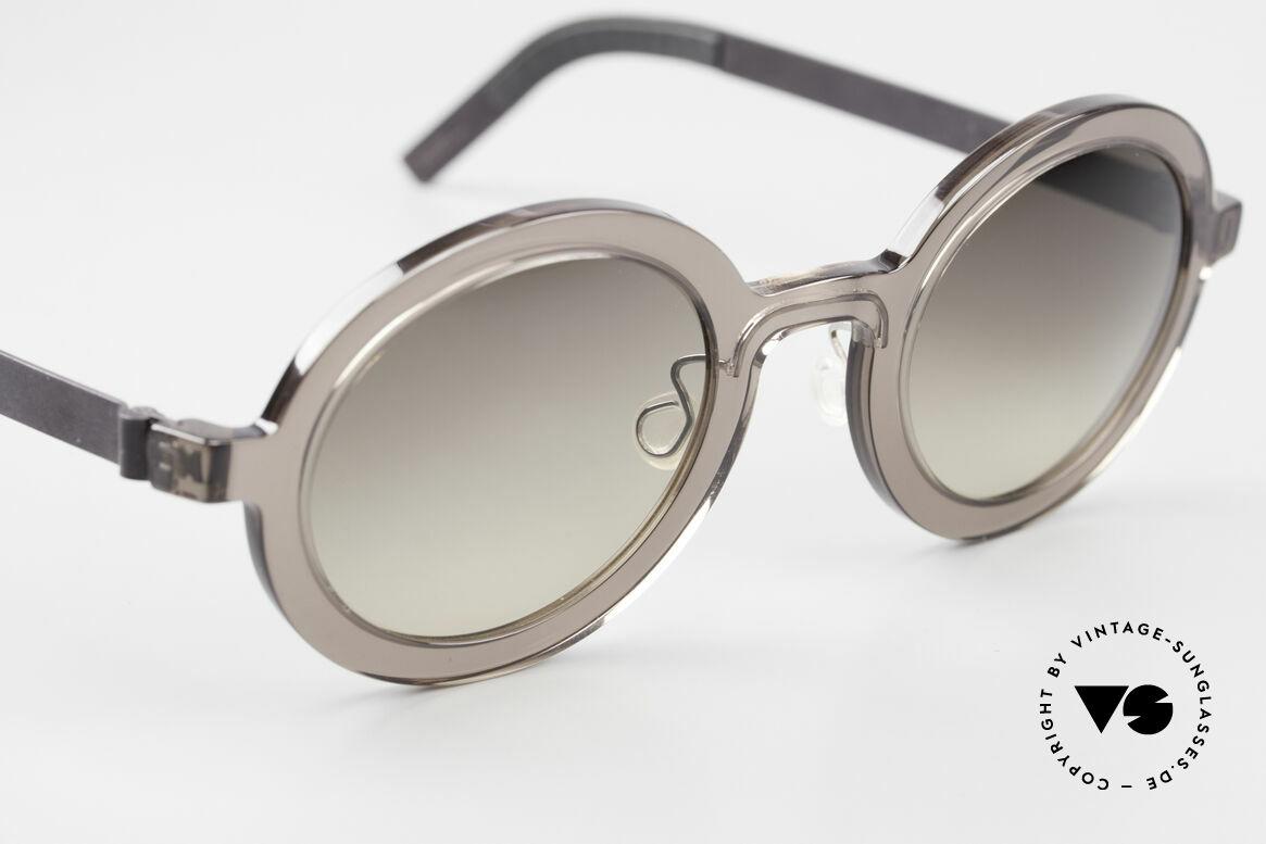 Lindberg 8570 Acetanium Oval Runde Sonnenbrille Unisex, ungetragenes Designerstück mit original Lindberg Etui, Passend für Herren und Damen