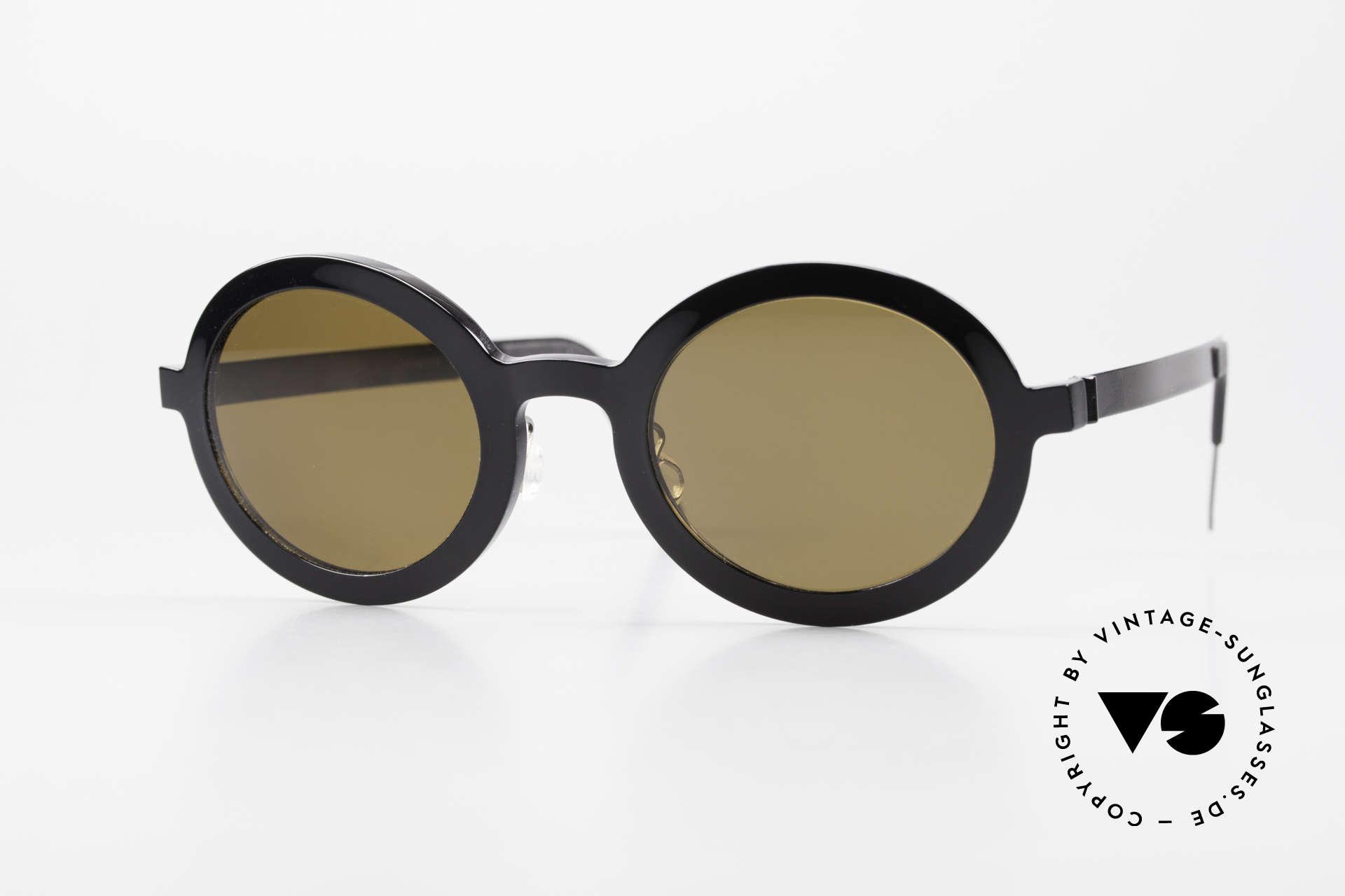 Lindberg 8570 Acetanium Runde Sonnenbrille Unisex Oval, LINDBERG Acetanium Sonnenbrille in Größe 46-23, 135, Passend für Herren und Damen