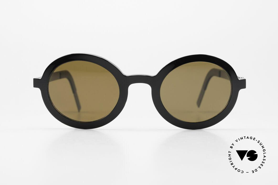 Lindberg 8570 Acetanium Runde Sonnenbrille Unisex Oval, Designer-Sonnenbrille; Acetat & Titanium Kombination, Passend für Herren und Damen