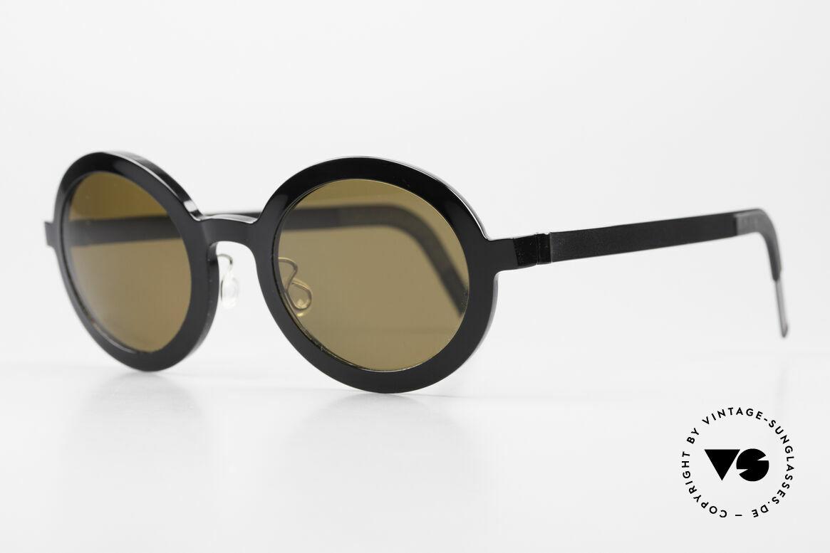 Lindberg 8570 Acetanium Runde Sonnenbrille Unisex Oval, vielfach ausgezeichnet hinsichtlich Qualität und Design, Passend für Herren und Damen
