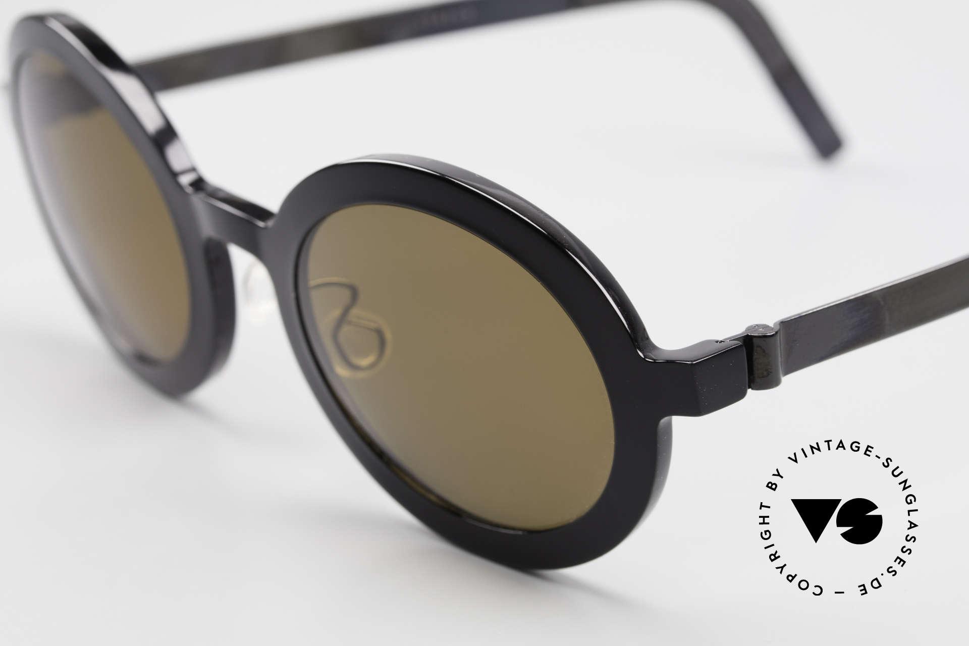 """Lindberg 8570 Acetanium Runde Sonnenbrille Unisex Oval, so zeitlos, stilvoll und innovativ = Prädikat """"VINTAGE"""", Passend für Herren und Damen"""