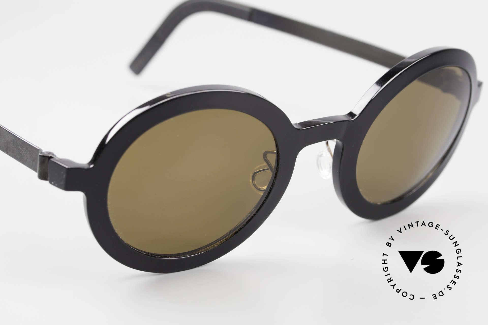 Lindberg 8570 Acetanium Runde Sonnenbrille Unisex Oval, ungetragenes Designerstück mit original Lindberg Etui, Passend für Herren und Damen