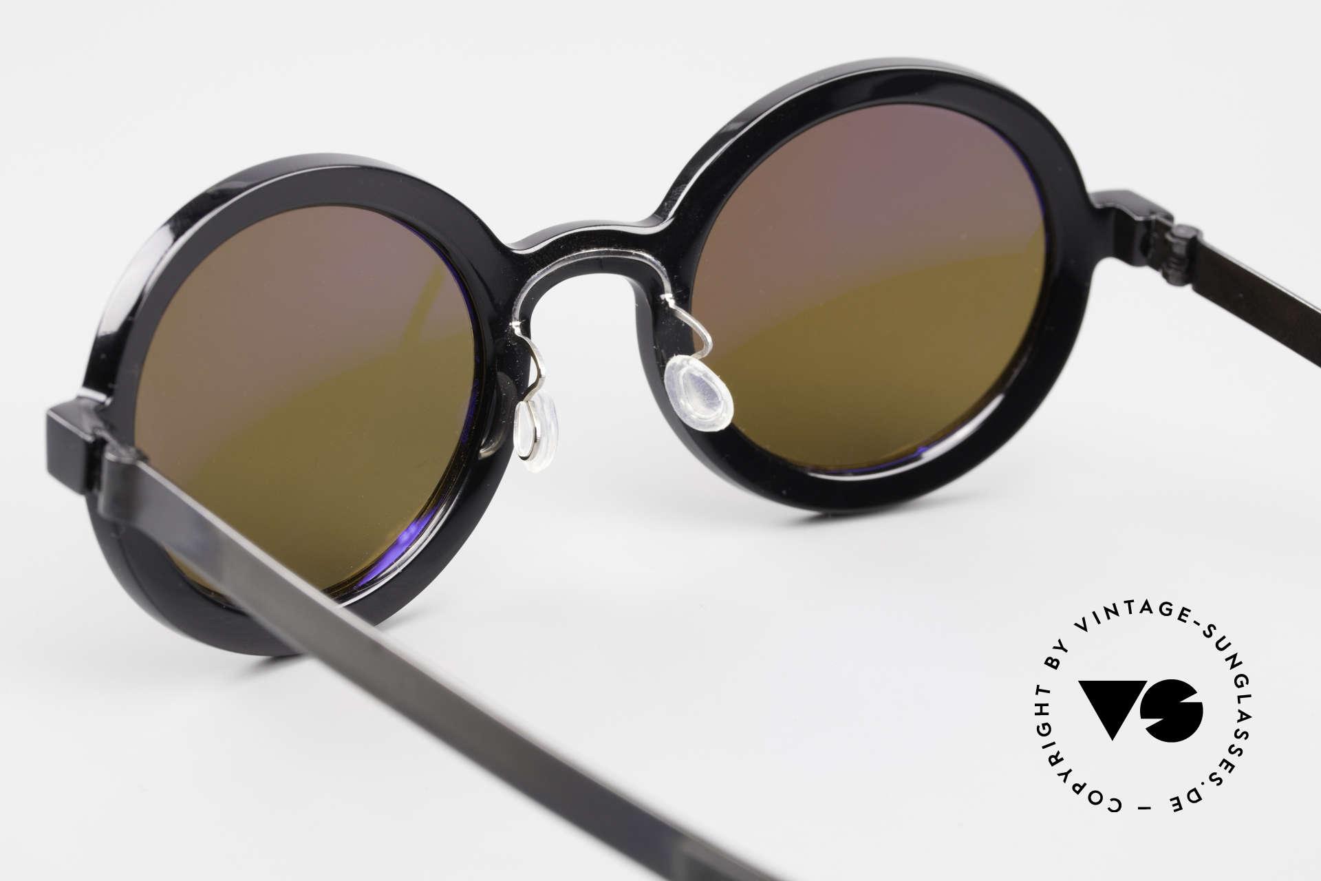 Lindberg 8570 Acetanium Runde Sonnenbrille Unisex Oval, mit entspiegelten Sonnengläsern (100% UV Protection), Passend für Herren und Damen