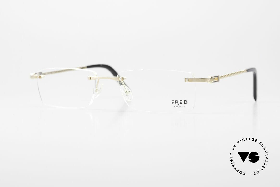 Fred Samoa Randlose Luxusbrille Segler, original Fred Brille, Mod. Samoa, in large Größe 56-17, Passend für Herren