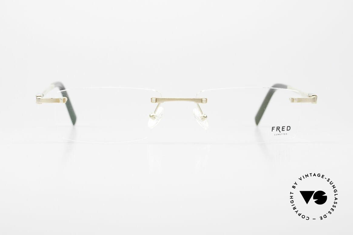 Fred Samoa Randlose Luxusbrille Segler, marines Design (charakteristisch Fred) in Top-Qualität, Passend für Herren
