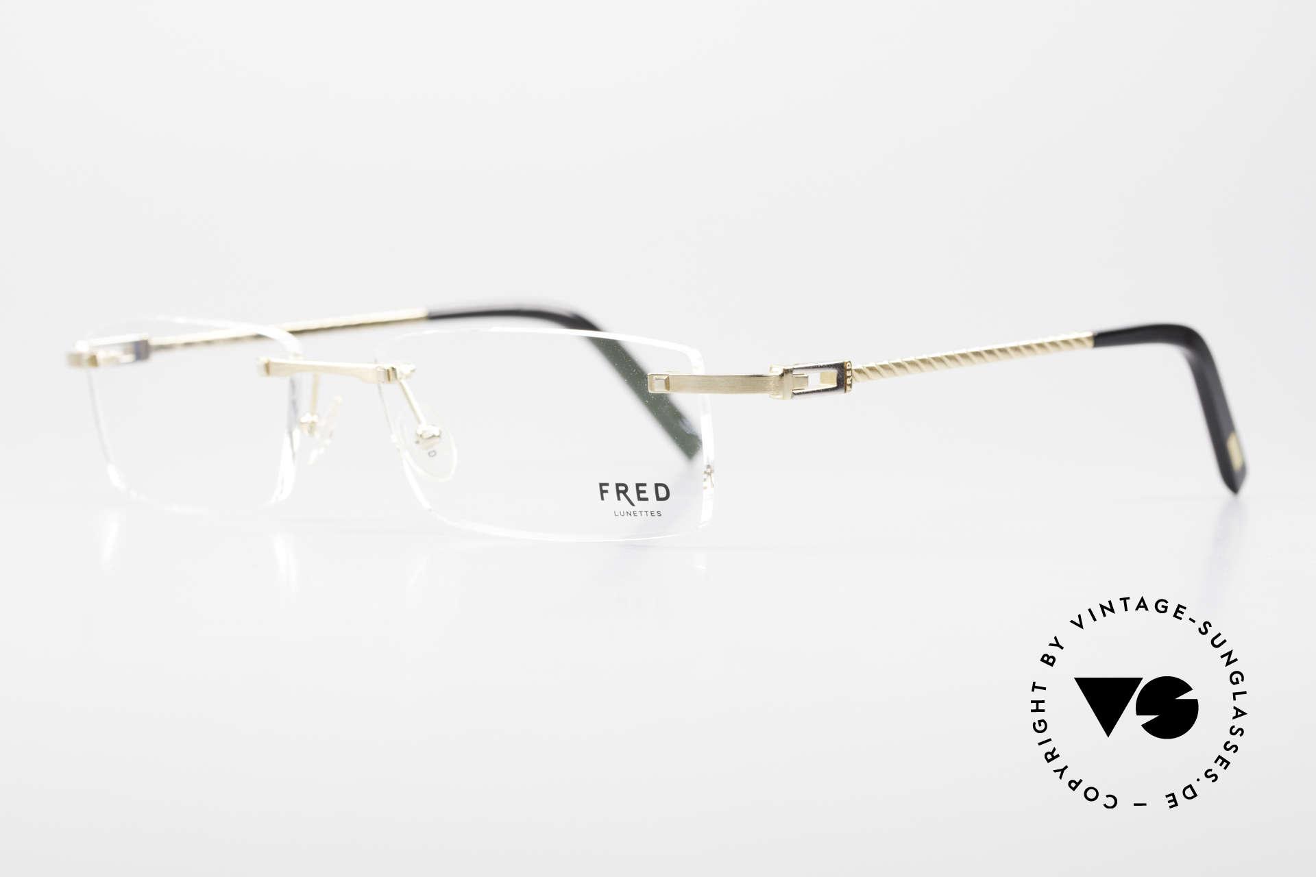 Fred Samoa Randlose Luxusbrille Segler, Modell benannt nach den Samoa Inseln im Südpazifik, Passend für Herren