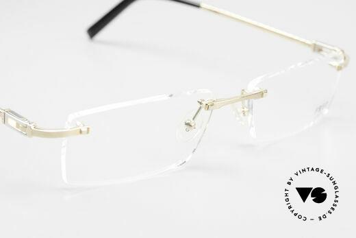 Fred Samoa Randlose Luxusbrille Segler, die DEMO Gläser sollten durch optische ersetzt werden, Passend für Herren