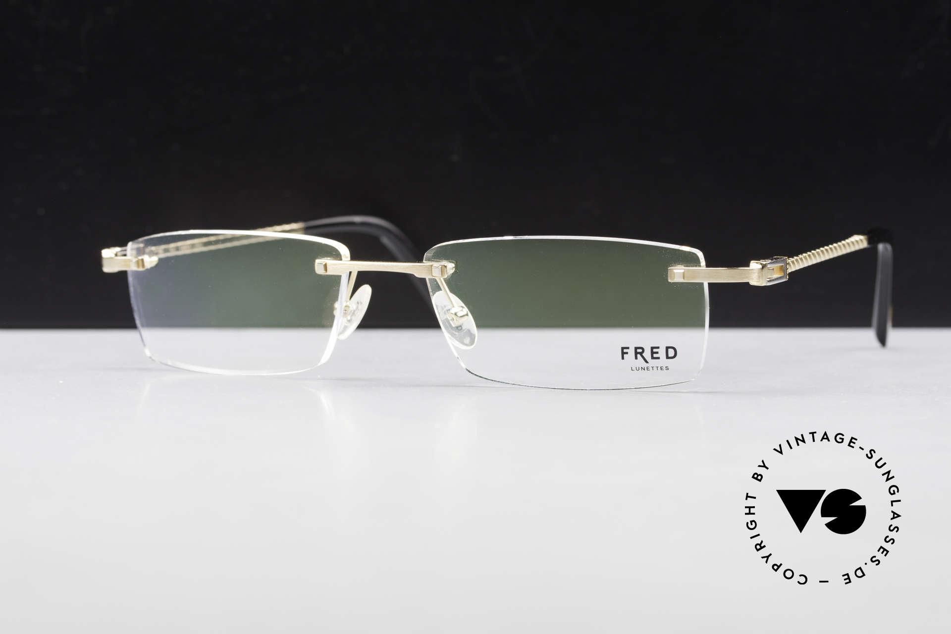 Fred Samoa Randlose Luxusbrille Segler, Größe: large, Passend für Herren