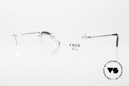 Fred Manhattan Randlosbrille Luxus Platinum Details