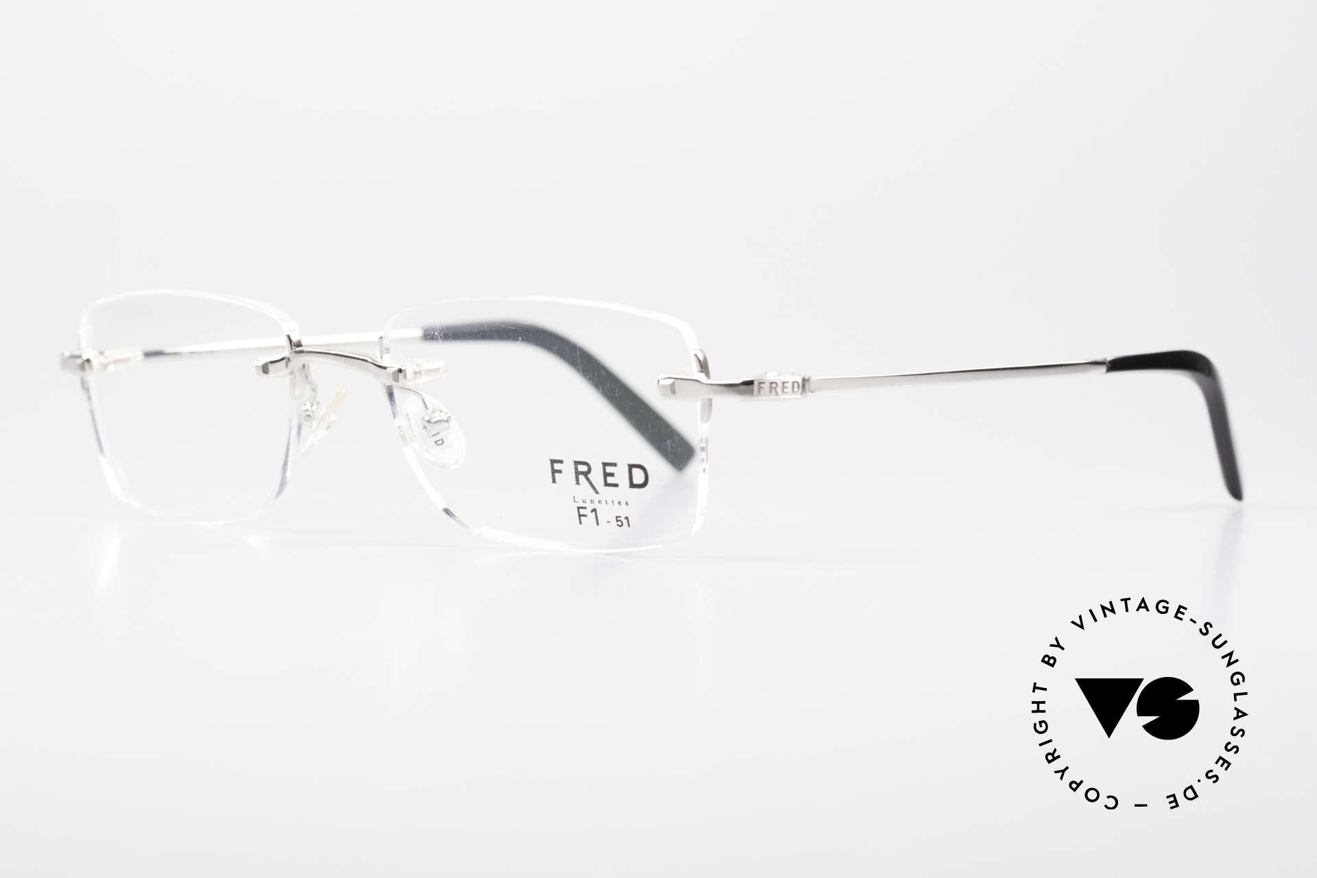 Fred Manhattan Randlosbrille Luxus Platinum, eine absolute Luxusbrille für Damen & Herren; Unisex, Passend für Herren und Damen