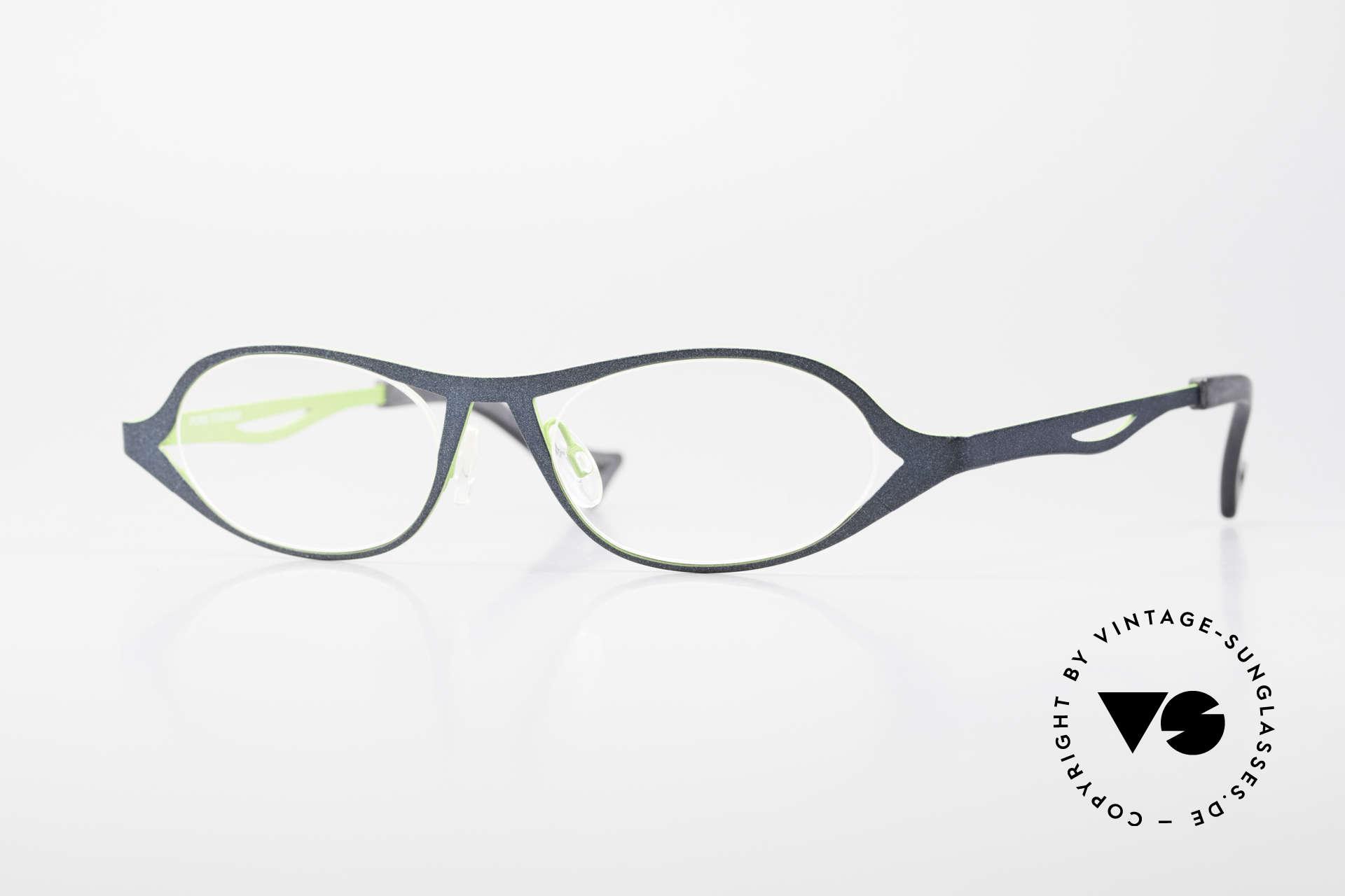 Theo Belgium Obligation Damenbrille Vintage Titanium, vintage Theo Belgium Designer Brille; Damenbrille, Passend für Damen