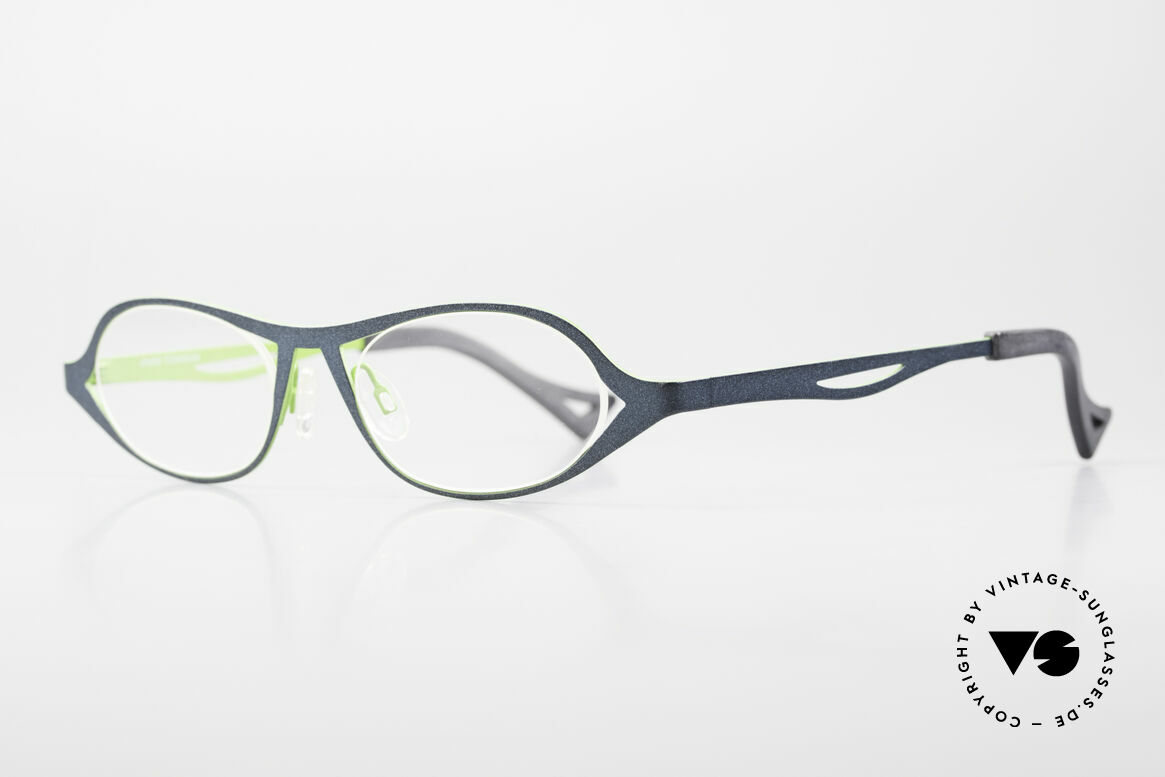 Theo Belgium Obligation Damenbrille Vintage Titanium, leicht & sehr komfortabel; PURE TITANIUM Fassung, Passend für Damen