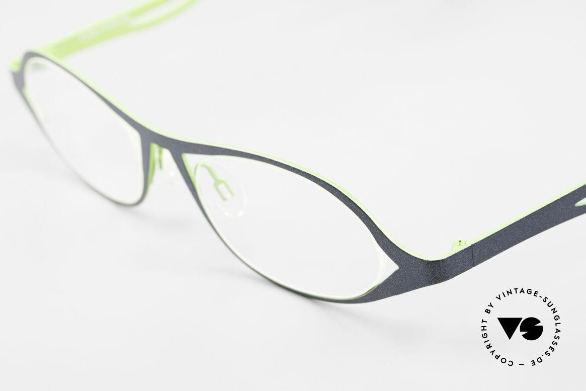Theo Belgium Obligation Damenbrille Vintage Titanium, ungetragen (wie alle unsere Theo Brillenfassungen), Passend für Damen