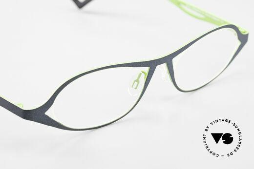 Theo Belgium Obligation Damenbrille Vintage Titanium, die Demogläser sollten durch optische ersetzt werden, Passend für Damen