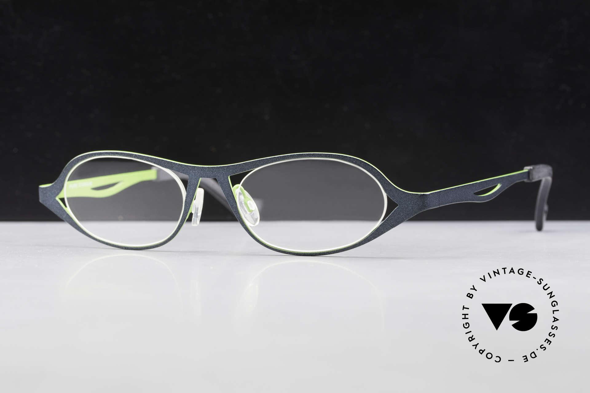 Theo Belgium Obligation Damenbrille Vintage Titanium, Größe: large, Passend für Damen