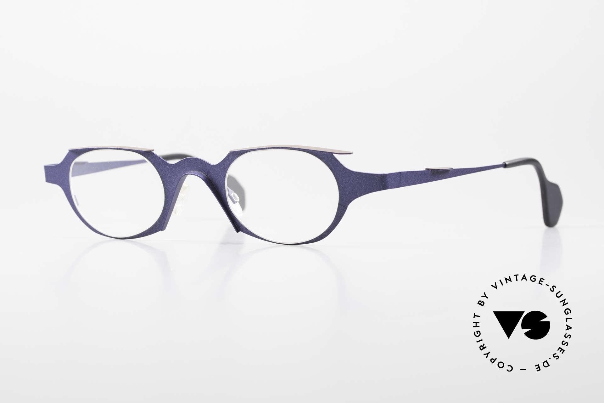"Theo Belgium Eye-Witness OB Avantgarde Damenbrille 90er, Theo Belgium Damenbrille der ""Eye-Witness"" Baureihe, Passend für Damen"