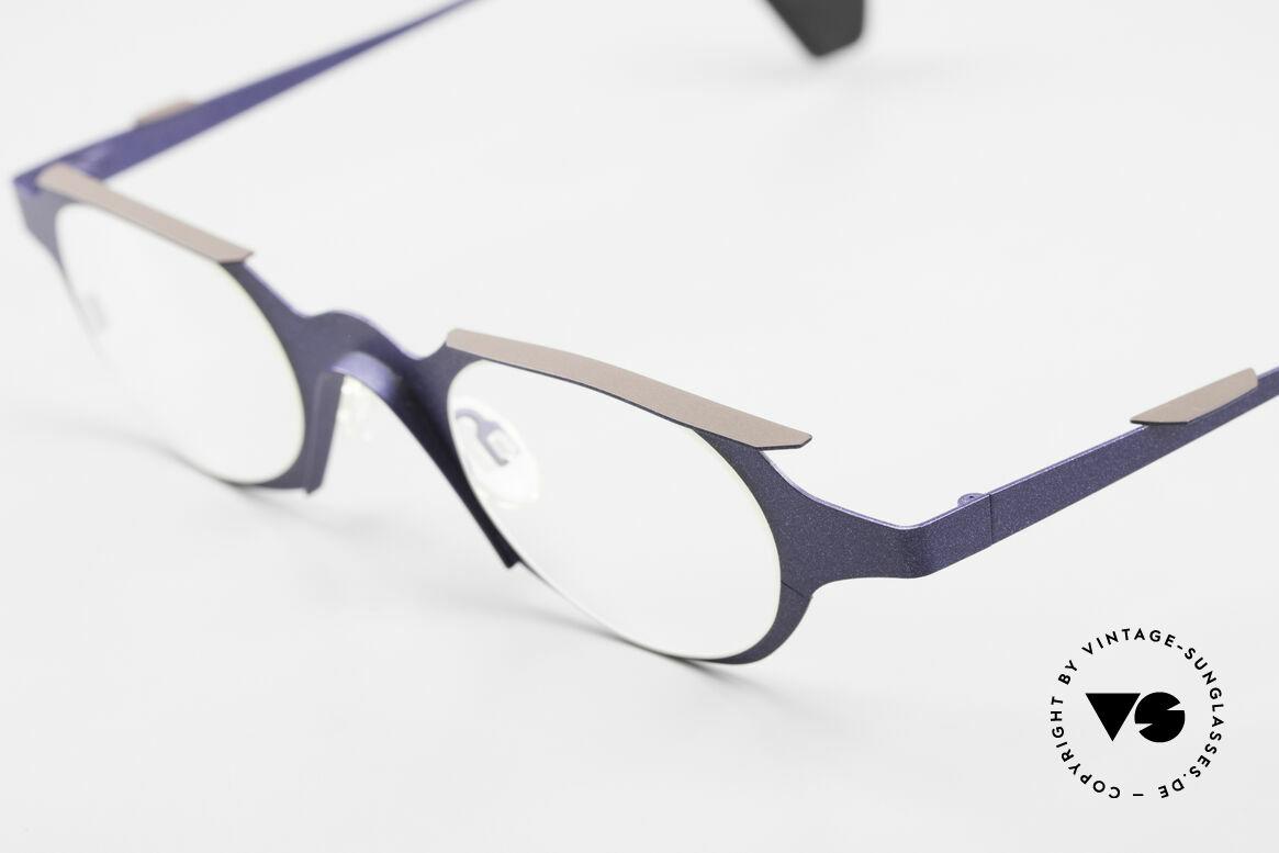 Theo Belgium Eye-Witness OB Avantgarde Damenbrille 90er, damals gemacht für die 'Avantgarde' und Individualisten, Passend für Damen