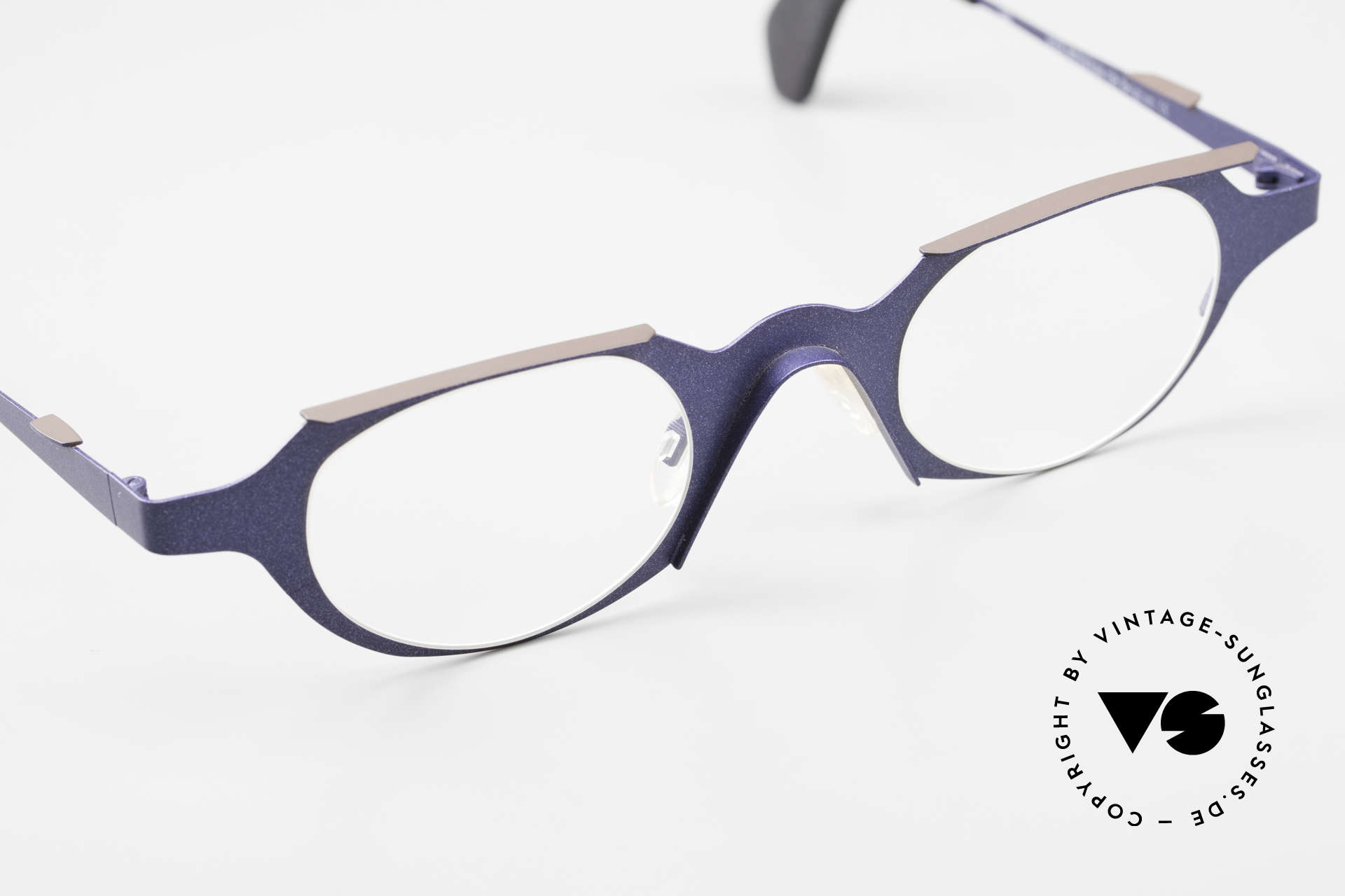 Theo Belgium Eye-Witness OB Avantgarde Damenbrille 90er, ungetragen (wie alle unsere 90er Theo Brillenfassungen), Passend für Damen