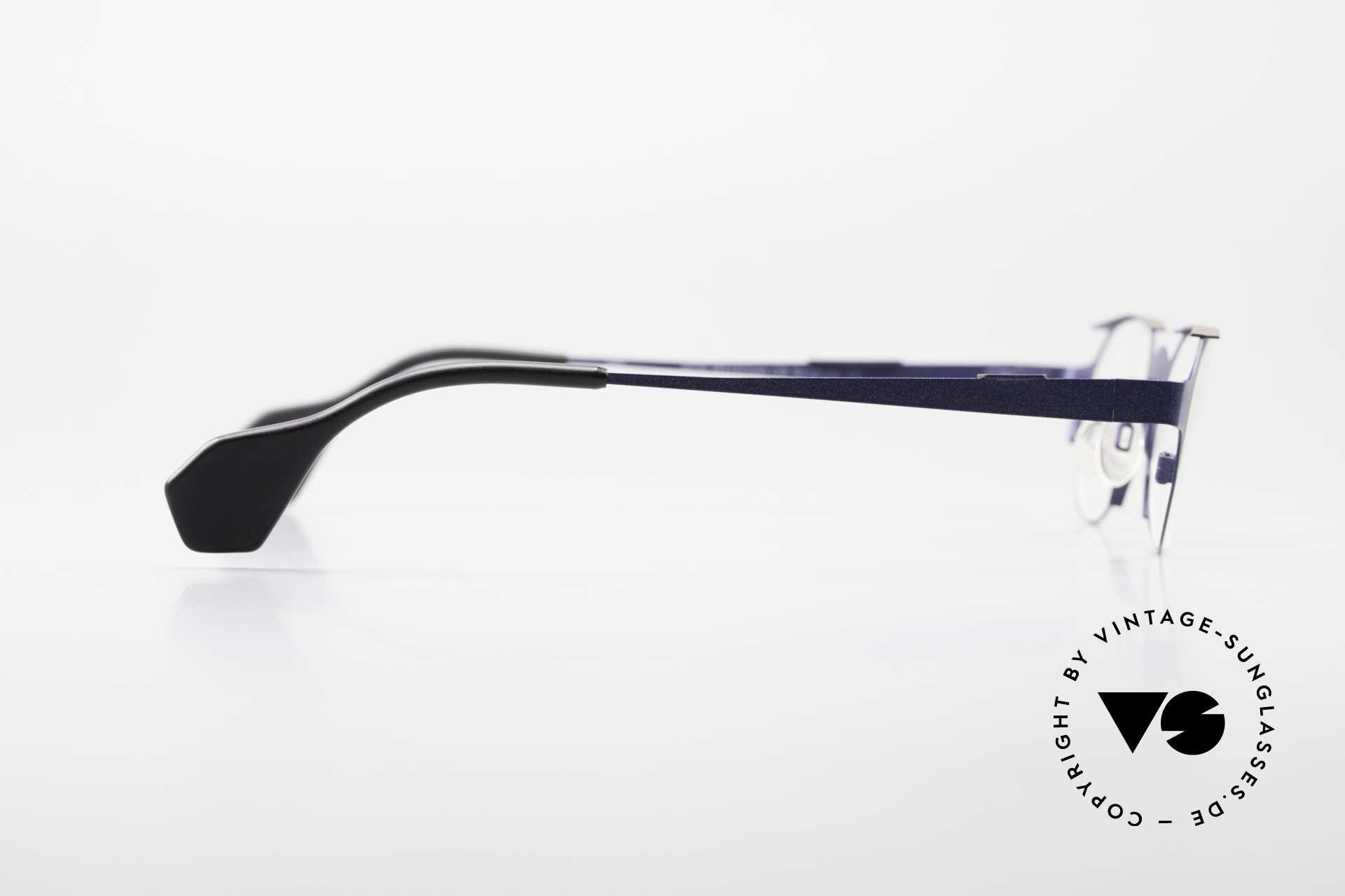 Theo Belgium Eye-Witness OB Avantgarde Damenbrille 90er, orig. DEMOgläser können durch optische ersetzt werden, Passend für Damen