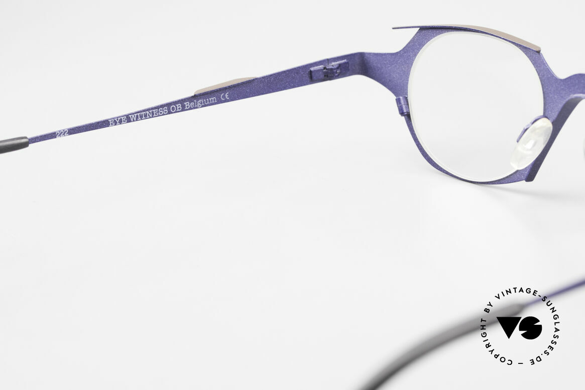 Theo Belgium Eye-Witness OB Avantgarde Damenbrille 90er, Größe: large, Passend für Damen